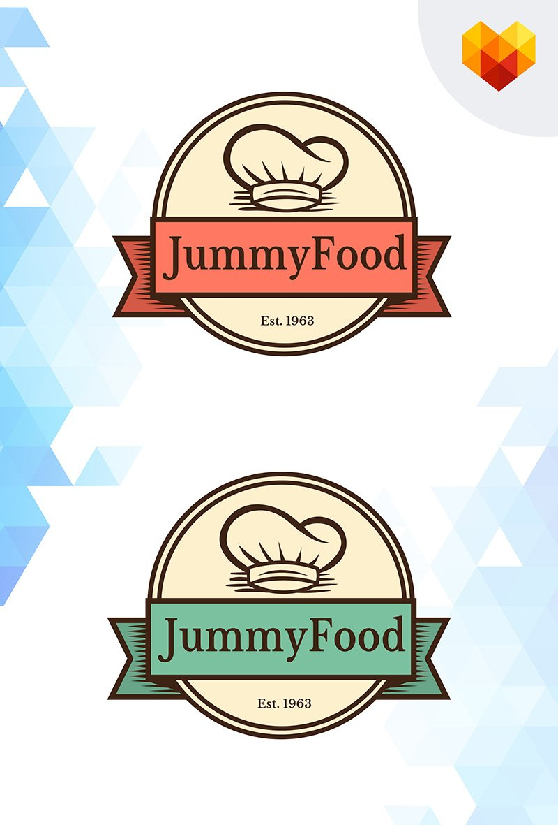 Jummy Food Restaurant Logo Template