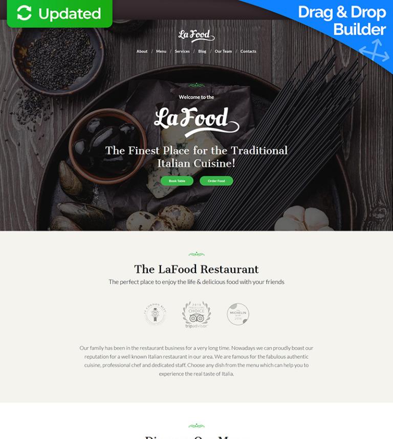 La Food Italian Restaurant Moto Cms 3 Template 66522