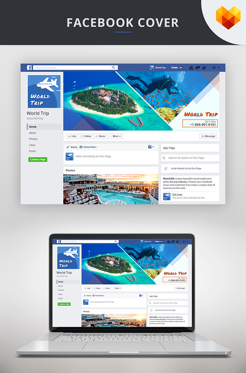 "Medios Sociales ""Travel Agency Facebook Cover Picture"" #66593"