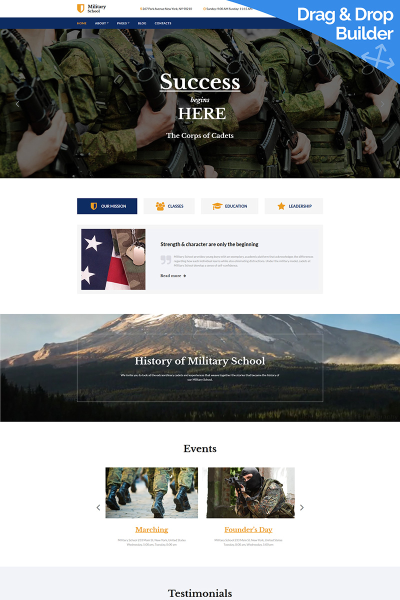 Military School Moto CMS 3 Template