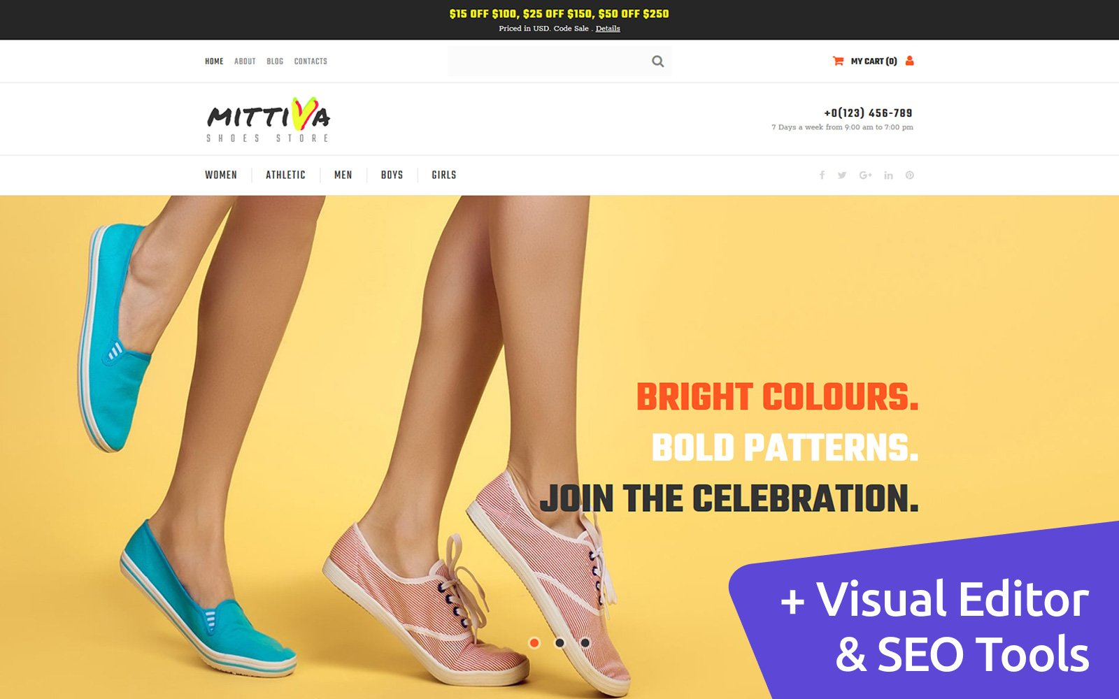 Shoe Store Responsive MotoCMS Ecommerce Template