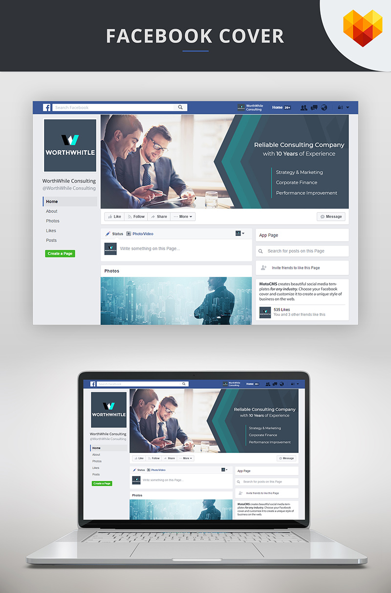 "Modello Social Media #66590 ""Consulting FB Timeline Cover Photo"" - screenshot"