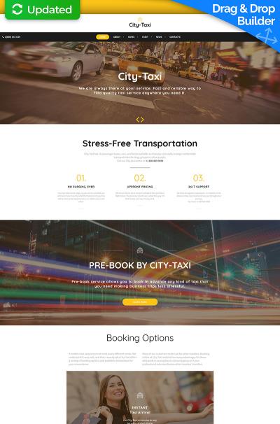 Responsive Plantilla Moto CMS 3  #66515 para Sitio de  para Sitio de Taxi