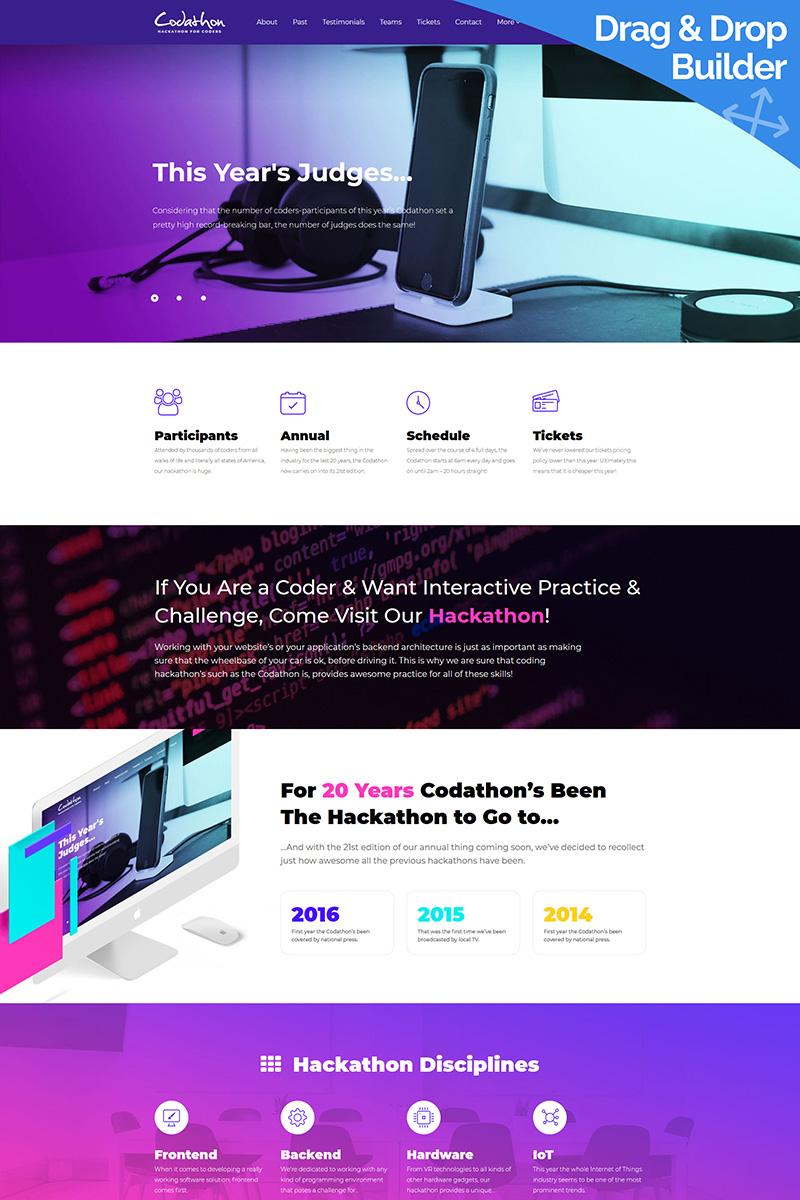 Responsive Hackathon for Coders - Moto Cms 3 #66520