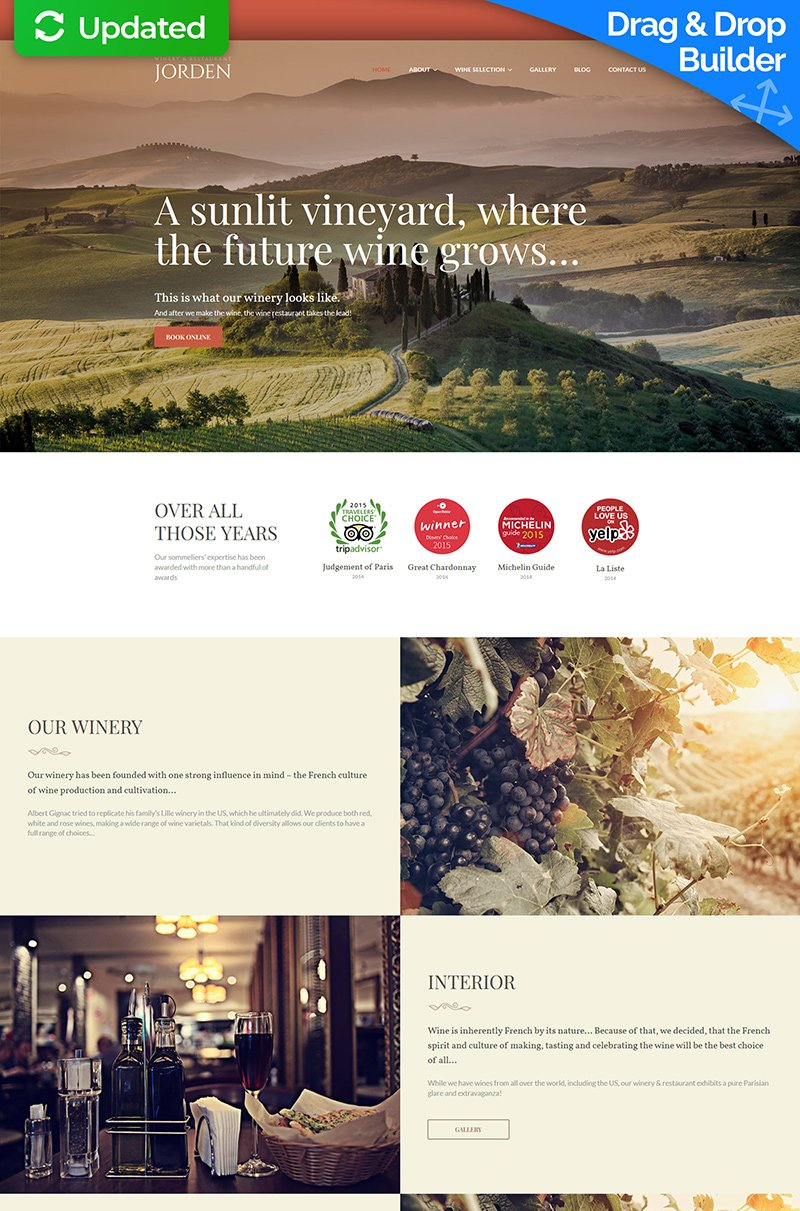 Responsive Jorden - Wine And Winery Moto Cms 3 #66538