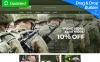 "Responzivní MotoCMS Ecommerce šablona ""HardKit - US Army Military Store"" New Screenshots BIG"