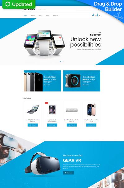 Mobile Store Responsive MotoCMS Ecommerce šablona