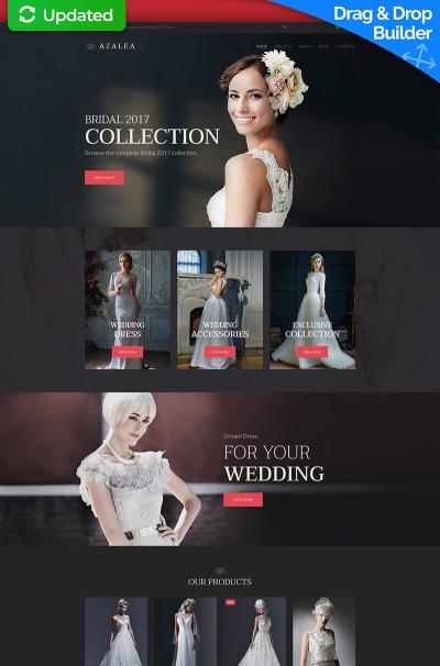 Wedding Shop Responsive MotoCMS Ecommerce Sablon