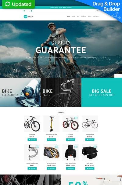 Bike Shop Responsive MotoCMS Ecommerce Sablon