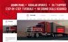 Reszponzív Transportation and Logistics Company Moto CMS 3 sablon Nagy méretű képernyőkép