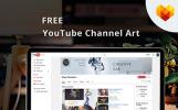 """Sociální sítě """"Creative Lab YouTube Channel Art"""""""
