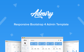Admiry - Responsive Bootstrap 4 Dashboard Admin Template