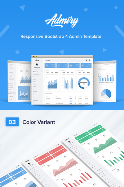Admiry -  Responsive Bootstrap 4 Dashboard Admin Template #66602