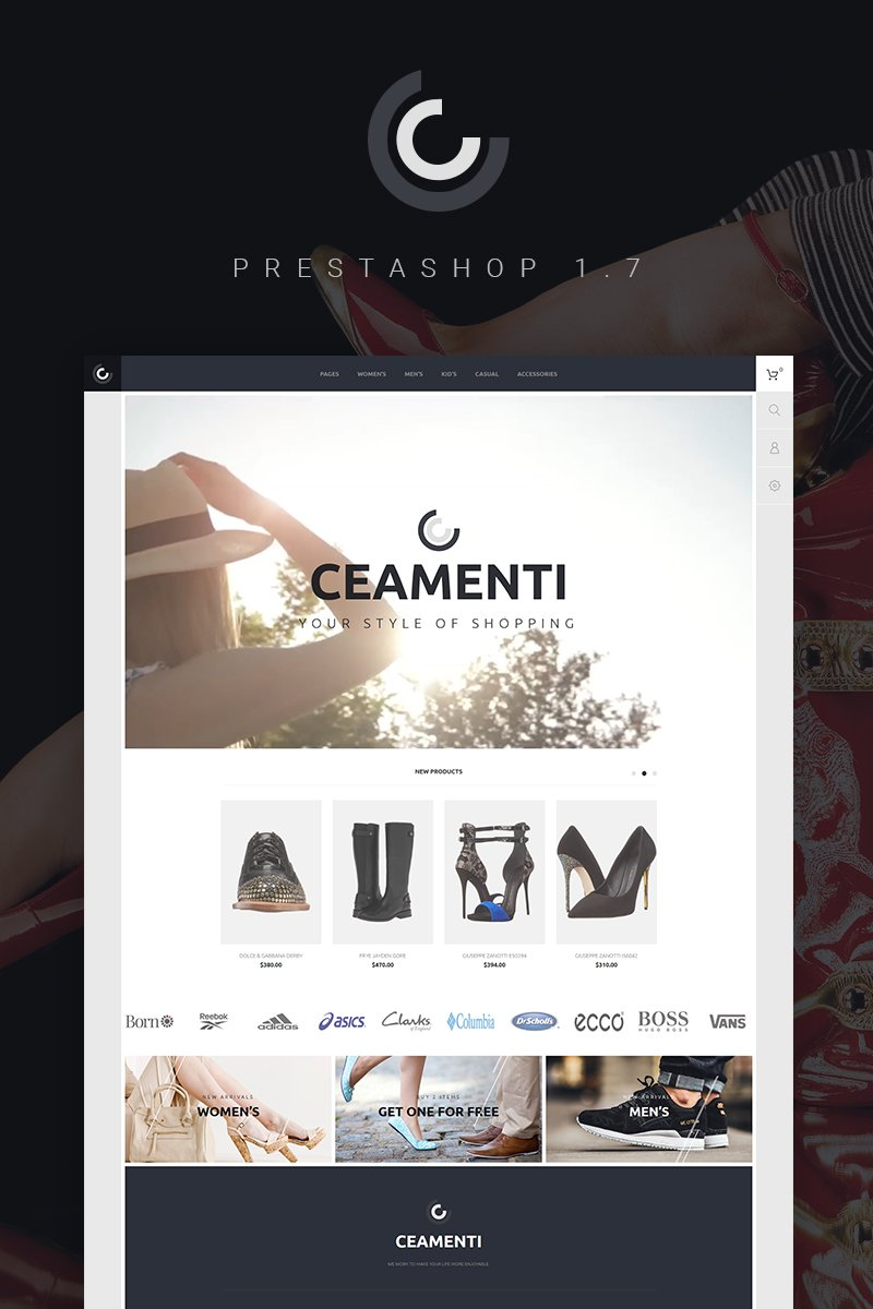 "PrestaShop motiv ""Ceamenti - Your Style of Shopping"" #66603"