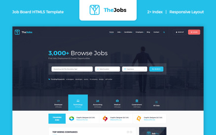 The Jobs - Job Board HTML Website Template