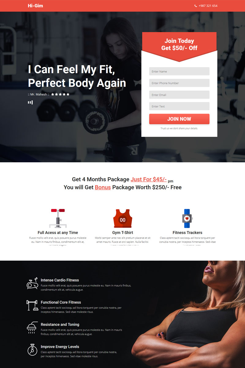 Website Template #66775 Adobe Muse Responsive Custom Website ...