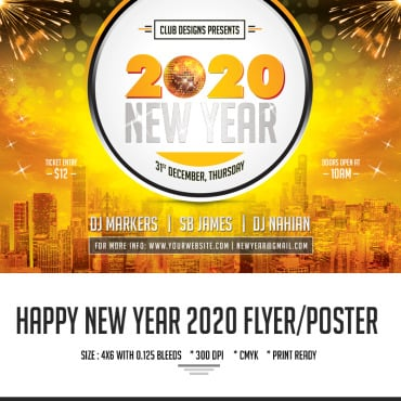Preview image of New Year Party Flyer Design -