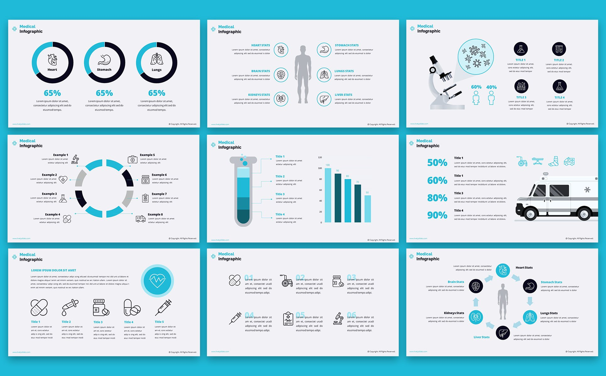 lively healthcare ppt slides powerpoint template  66798