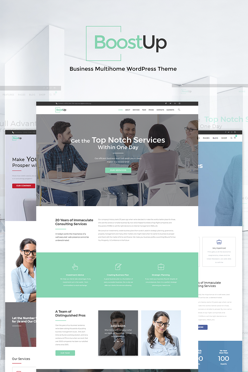 BoostUp Business Consulting WordPress Theme - screenshot