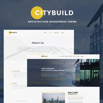Thème WordPress adaptatif  pour entreprise de construction