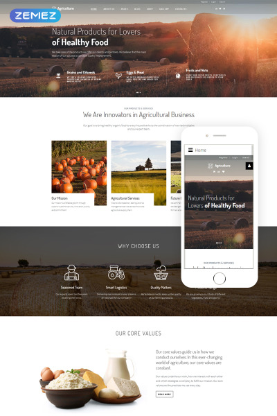 Harvest - Agriculture & Farming Responsive Joomla Template #66783