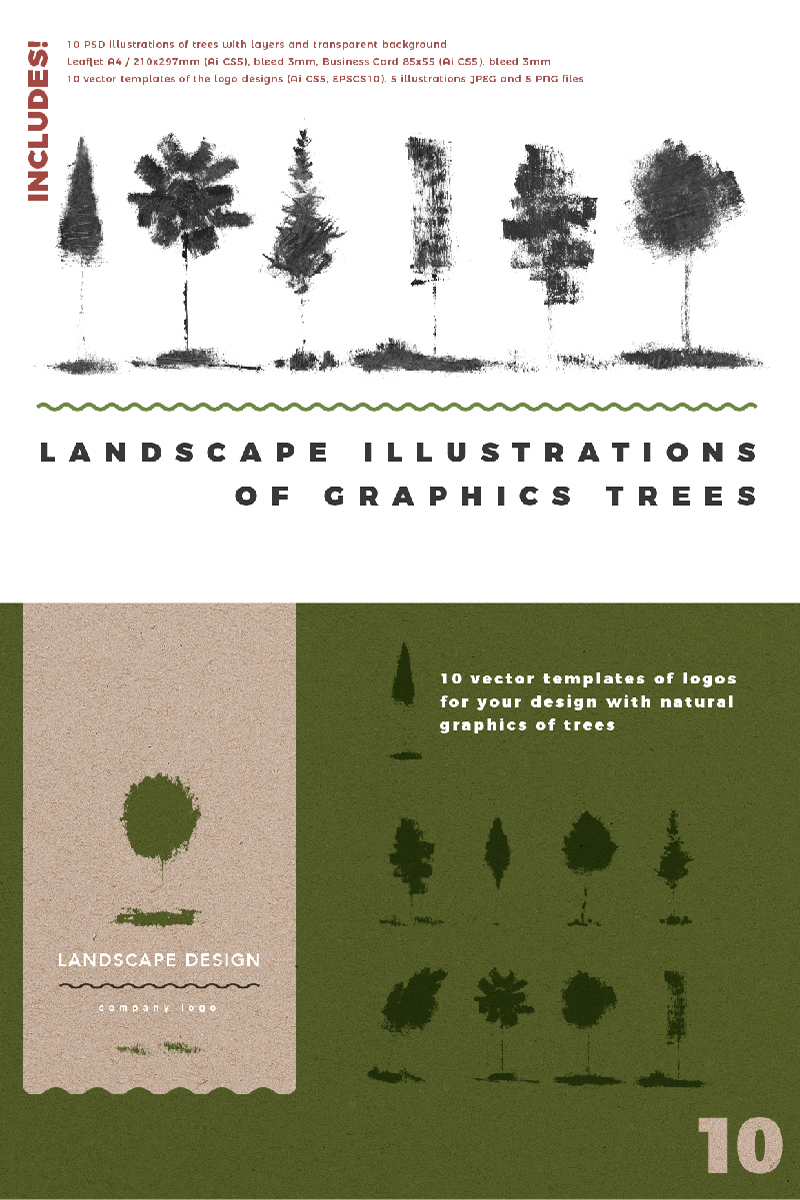 Landscape Identity & Illustrations - Illustration