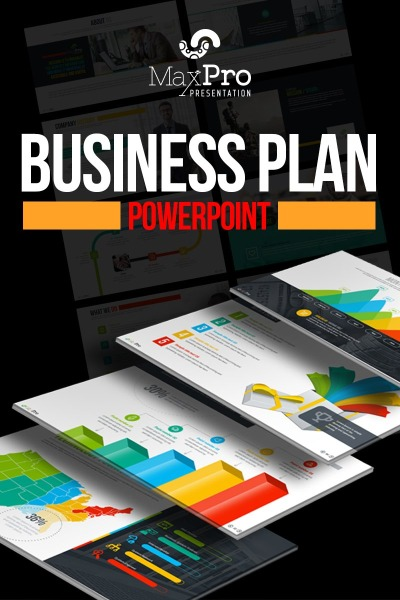 """MaxPro - Business Plan"" modèle PowerPoint  #66751"
