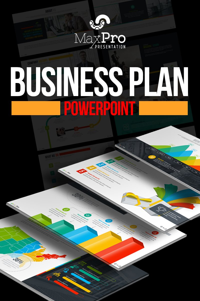 MaxPro - Business Plan PowerPoint sablon 66751