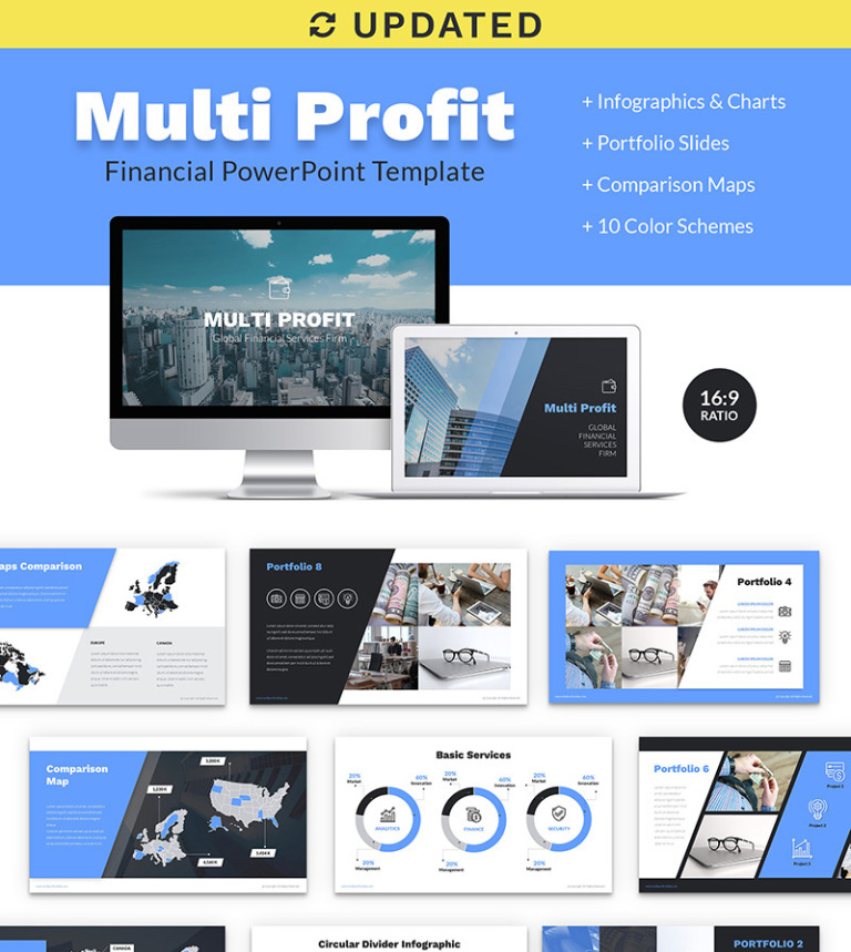Multi Profit Financial Company Presentation Ppt Powerpoint Template