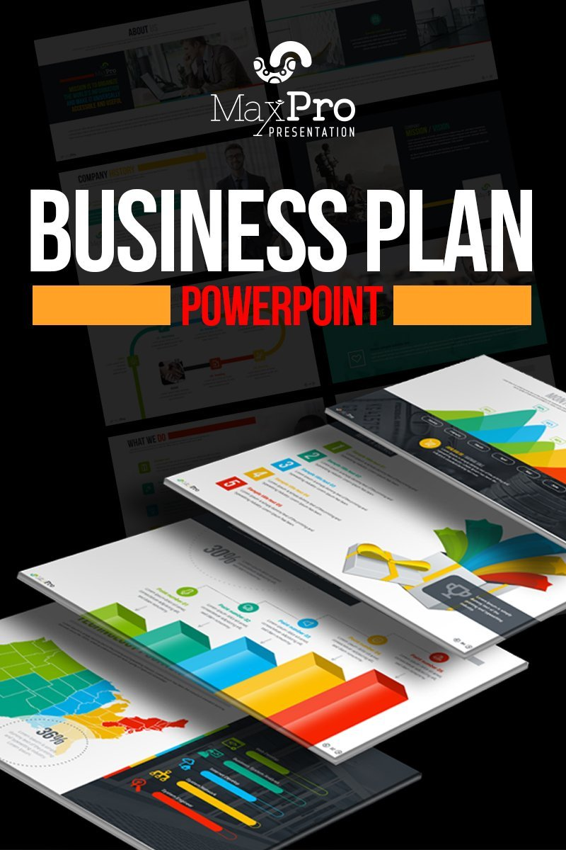 "Plantilla PowerPoint ""MaxPro - Business Plan"" #66751"