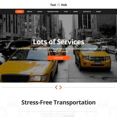 Plantilla Web #57727 para Sitio de Taxi