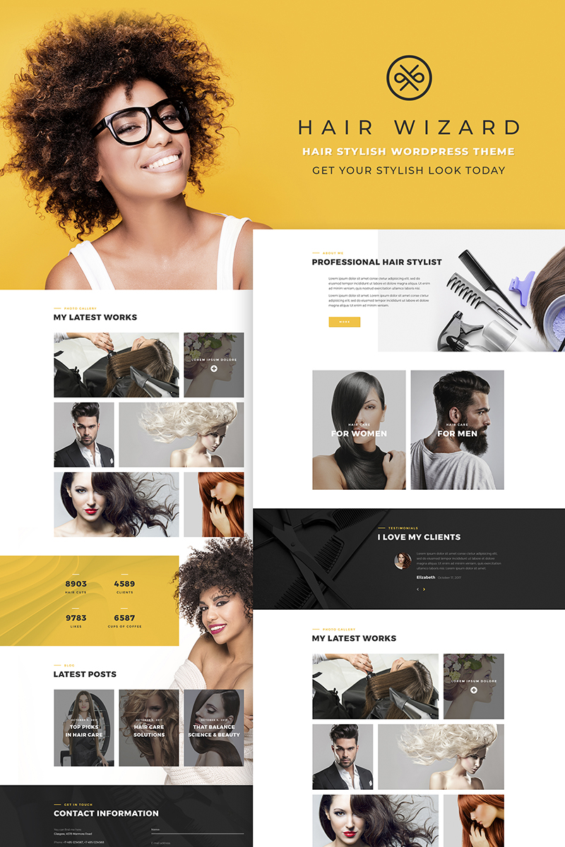 Responsywny motyw WordPress Hair Stylist #66768