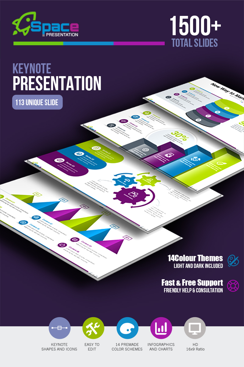 Startup Business Presentation & Startup Pitch Deck - Template para Keynote №66781