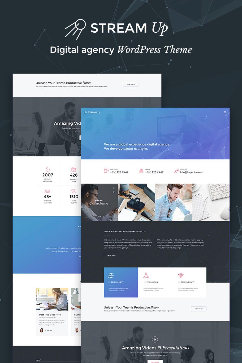 StreamUp - Digital Agency Tema WordPress №66757