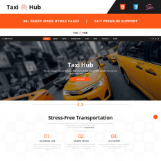 Web site templates web page templates taxihub taxi responsive pronofoot35fo Gallery
