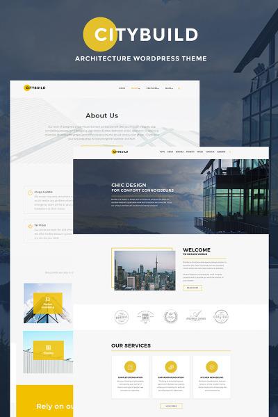 Responsive Tema De WordPress #66770 para Sitio de  para Sitio de Empresas de construcción
