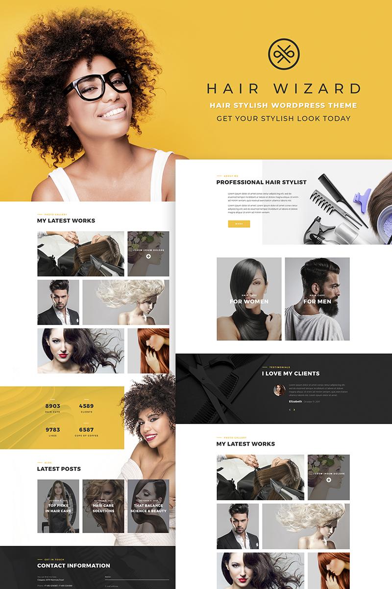 "Tema WordPress Responsive #66768 ""Hair Stylist"""
