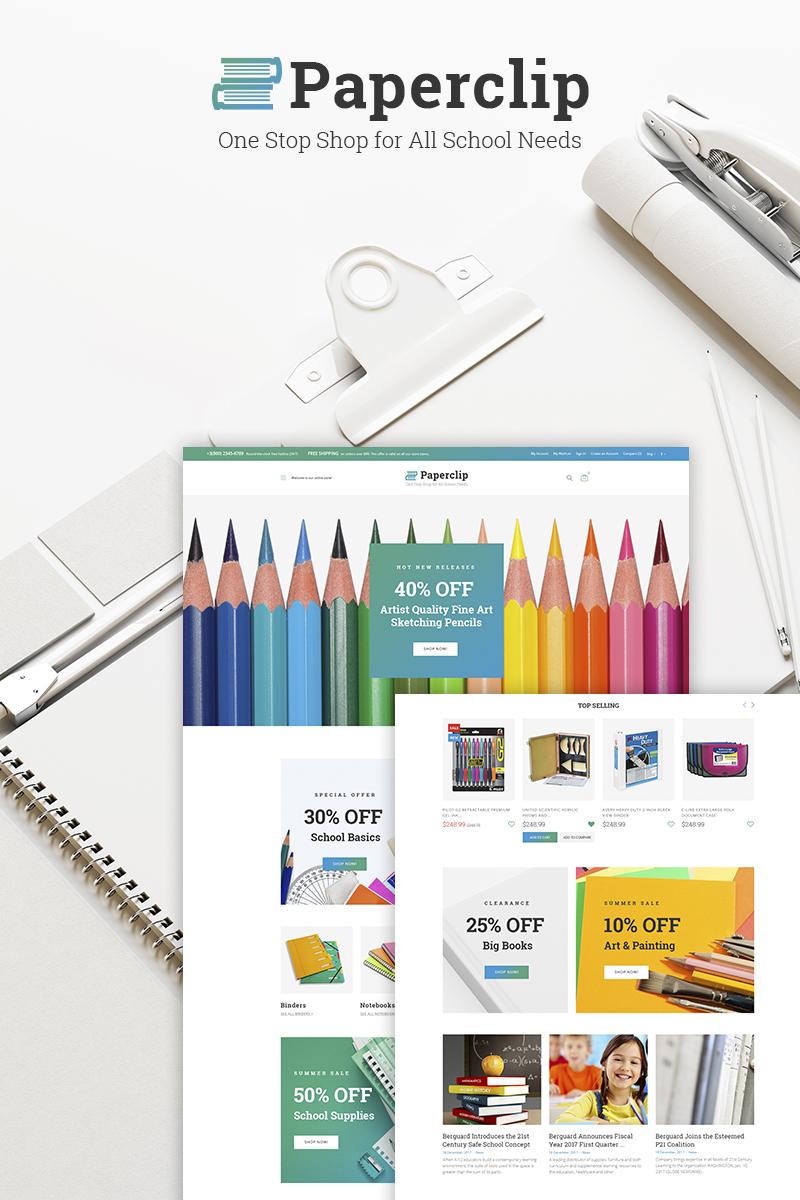 "Template WooCommerce #66769 ""Paperclip - School Shop"""