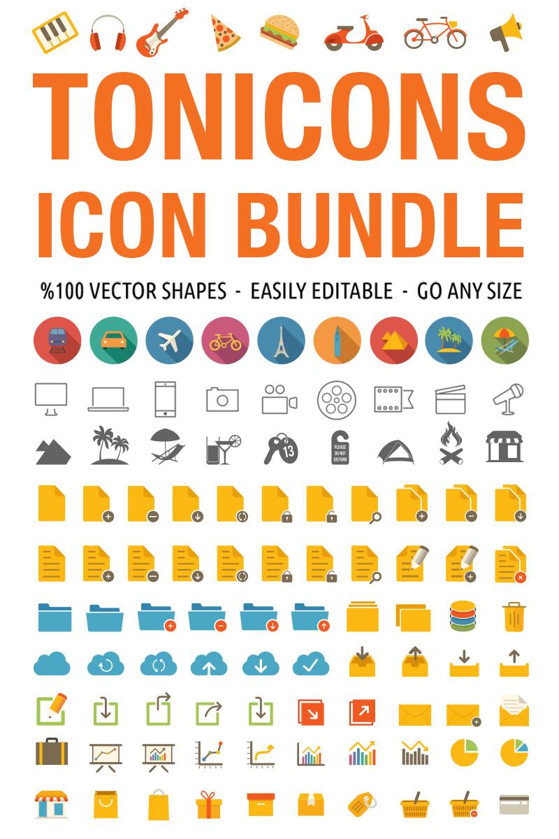 """""""Tonicons - 2000 Vector Icons"""" 图标集模板 #66767"""