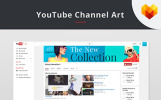 YouTube Cover Template For Fashion Store Social Media