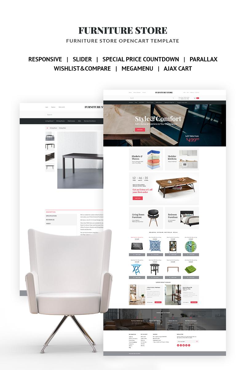 website template #66816 furniture design interior custom website