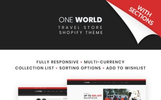 One World - Travel Store Shopify Theme