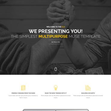 Купить  пофессиональные Muse шаблоны. Купить шаблон #66857 и создать сайт.