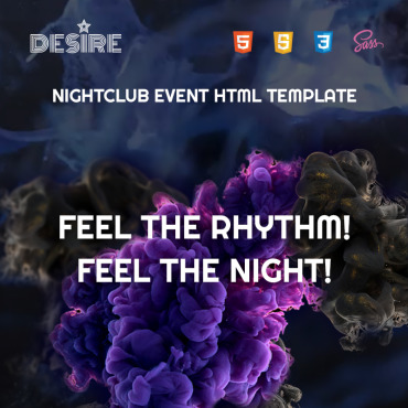 Preview image of Desire - Night Club HTML5