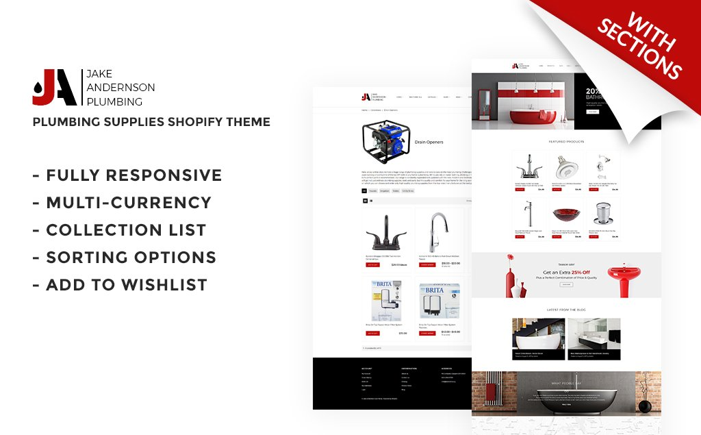 Website Design Template 66870 - builder shopify building materials tools design interior online shopping commerce
