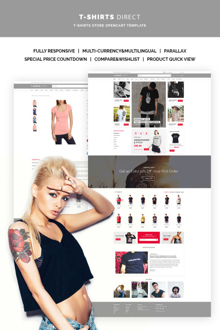 Website Design Template 66899 - clothing opencart kids fashion gifts print online shopping store jeans product