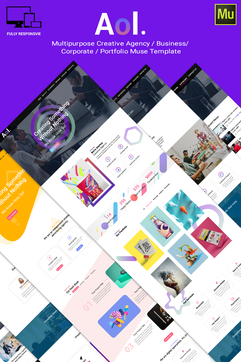 Aol Template Muse №66893