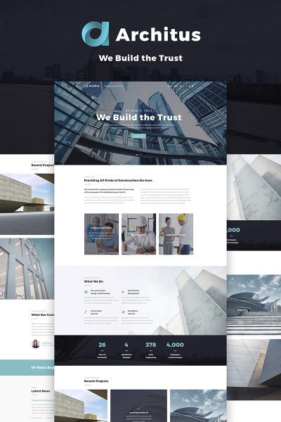 Architus - Construction WordPress Theme #66887