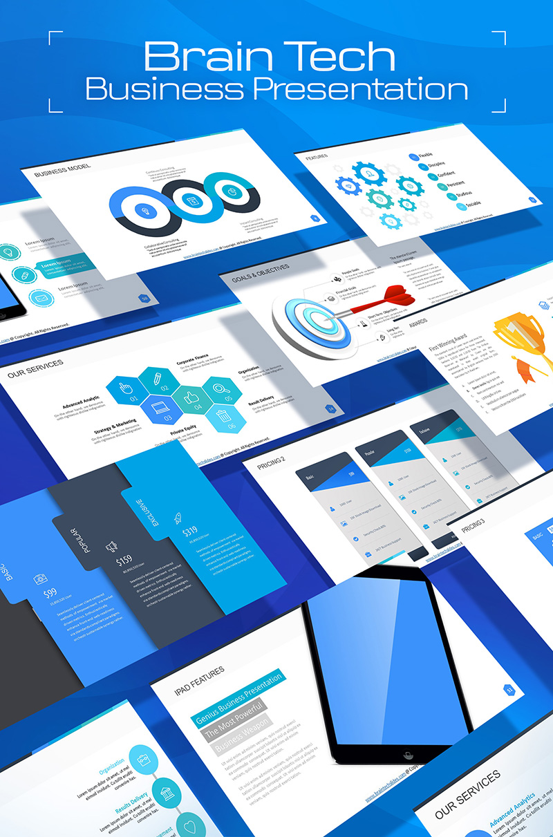 """""""BrainTech PPT Slides For Consulting Business"""" PowerPoint 模板 #66803"""