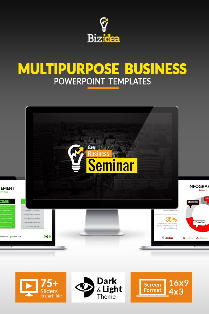 Business Presentation | Animated PPT and PPTX Template PowerPoint №66878